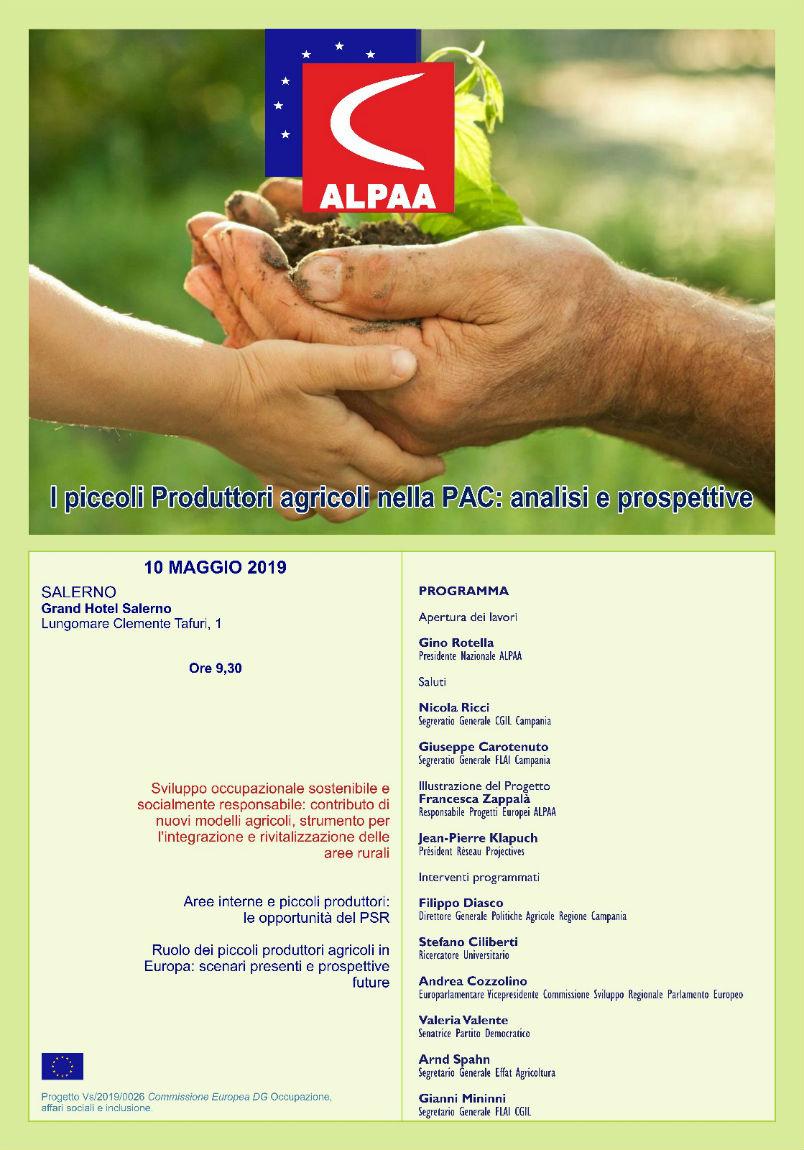 Locandina Seminario Alpaa, Salerno, 10 maggio 2019, clicca sull'immagine per la versione ingrandita